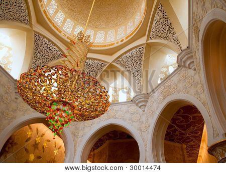 Sheikh Zayed mosque in Abu Dhabi inside