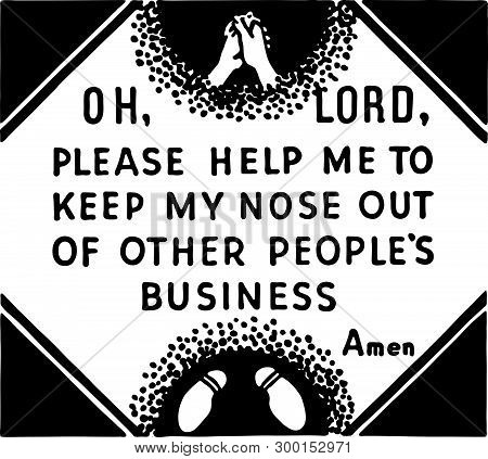 Oh Lord Please Help Me - Retro Ad Art Banner