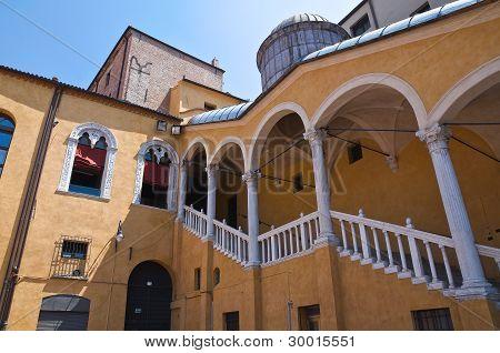 Grand Staircase of Honour. Ferrara. Emilia Romagna. Italy.