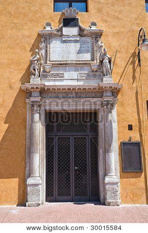 Estense Hall Entrance. Ferrara. Emilia-Romagna. Italy.