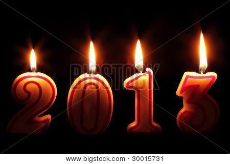 Happy 2013 - candles burning