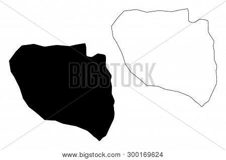Niamey Region (regions Of Niger, Republic Of The Niger) Map Vector Illustration, Scribble Sketch Nia