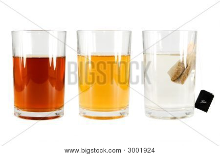 Three Glasses And A Tea Bag