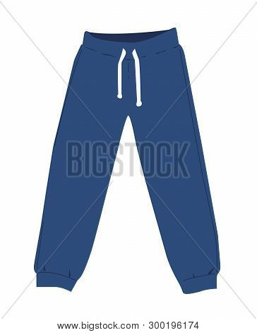 Sweatpants A Vector Illustration On White Background