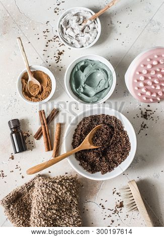 Home Anti-cellulite Products - Coffee Scrub, Cosmetic Clay, Essential Orange Oil, Hand Anti-cellulit