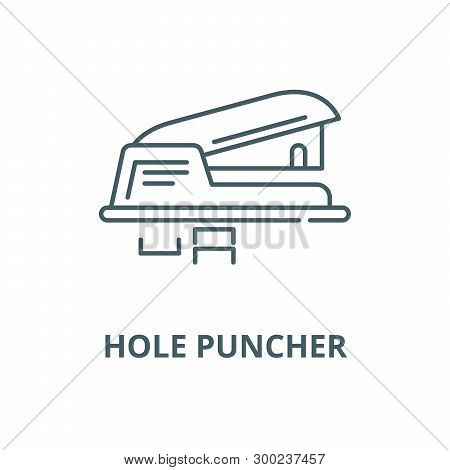 Hole Puncher Vector Line Icon, Linear Concept, Outline Sign, Symbol