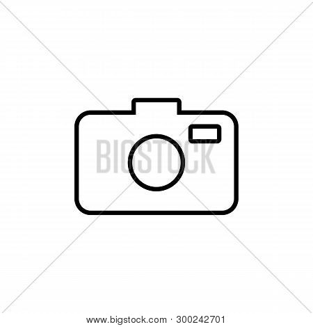 Photo Camera Icon In Trendy Design Style. Photo Camera Icon Isolated On White Background. Photo Came