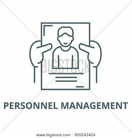 Personnel Management Vector Line Icon, Linear Concept, Outline Sign, Symbol