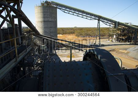 Industrial Mining Process Plant In The Field