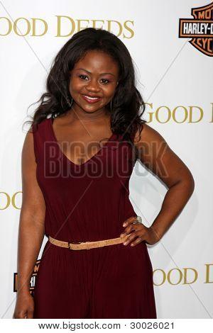 LOS ANGELES - FEB 14:  Hope Olaide Wilson arrives at the