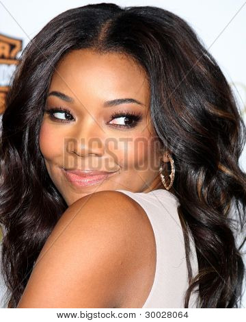 LOS ANGELES - FEB 14:  Gabrielle Union arrives at the Lionsgate's World Premiere of 'Good Deeds' at Regal Cinemas L.A. Live on February 14, 2012 in Los Angeles, California