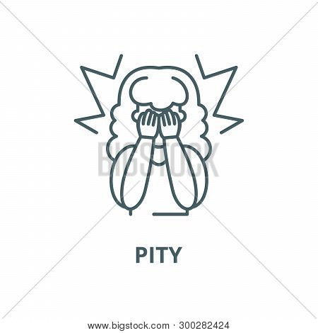 Pity Vector Line Icon, Linear Concept, Outline Sign, Symbol