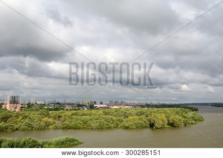View Of Irtysh River Divides The City Into Two Parts Omsk, Russia