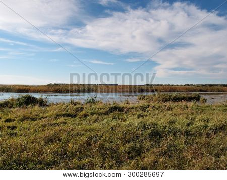 Morning On Lake Big Corner. Omsk Region, Siberia, Russia