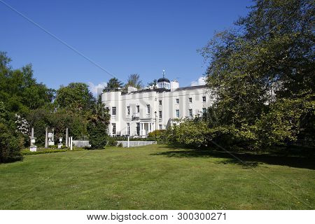 Swansea, Wales - May 5th, 2019: Sketty Hall Historic House, Singleton Park
