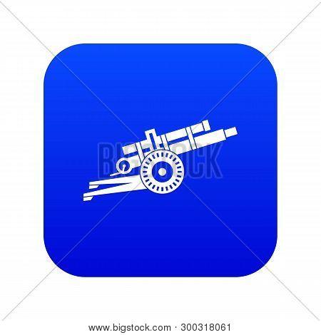 Artillery Gun Icon Digital Blue For Any Design Isolated On White Vector Illustration
