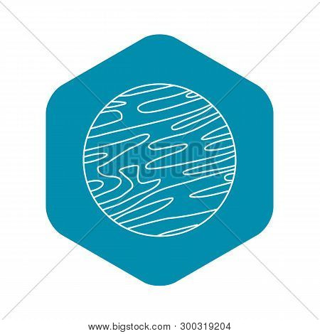Far Away Planet Icon. Outline Illustration Of Far Away Planet Vector Icon For Web