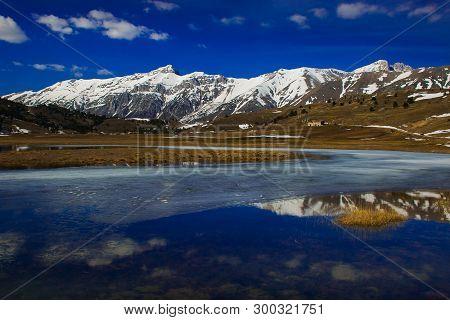 Fantastic View Of Abruzzo Landscape In The National Park Of Gran Sasso And Monti Della Laga