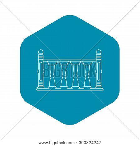 Balustrade Icon. Outline Illustration Of Balustrade Vector Icon For Web