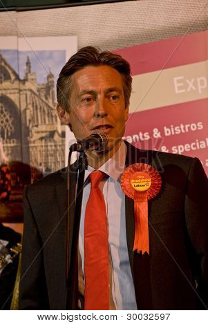 Exeter Labour Party's Ben Bradshaw Being Re-elected As A Member Of Parliament, On A Majority Of 2721