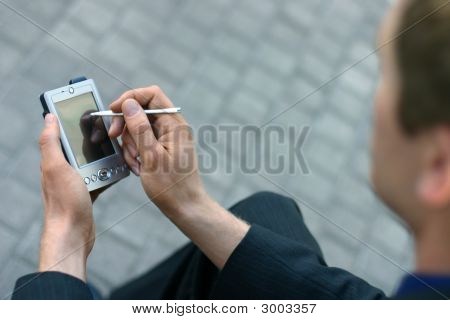 Businessman With Pda