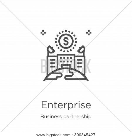 Enterprise Icon Isolated On White Background From Business Partnership Collection. Enterprise Icon T