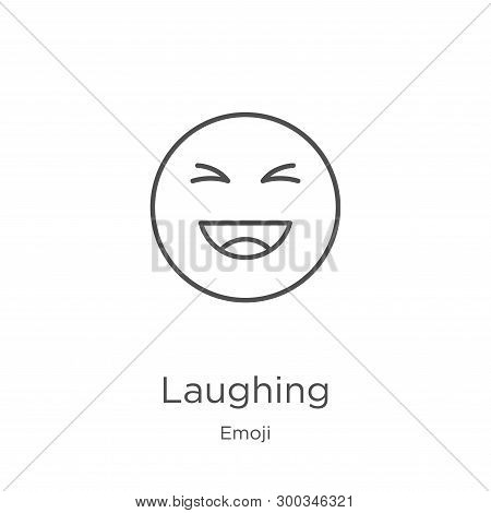 Laughing Icon Isolated On White Background From Emoji Collection. Laughing Icon Trendy And Modern La