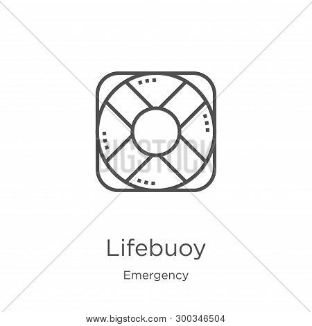 Lifebuoy Icon Isolated On White Background From Emergency Collection. Lifebuoy Icon Trendy And Moder