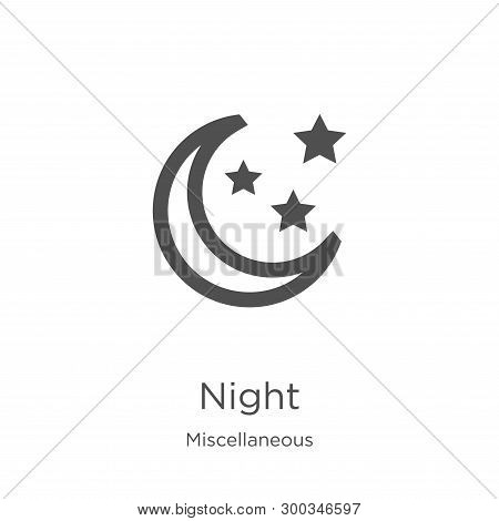 night icon isolated on white background from miscellaneous collection. night icon trendy and modern night symbol for logo, web, app, UI. night icon simple sign. night icon flat vector illustration for graphic and web design. poster