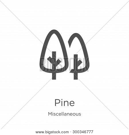 pine icon isolated on white background from miscellaneous collection. pine icon trendy and modern pine symbol for logo, web, app, UI. pine icon simple sign. pine icon flat vector illustration for graphic and web design. poster