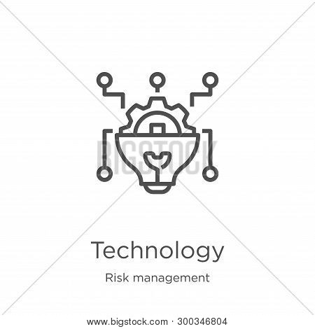 Technology Icon Isolated On White Background From Risk Management Collection. Technology Icon Trendy