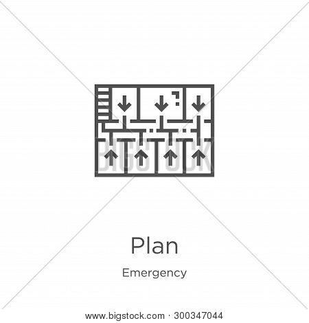 Plan Icon Isolated On White Background From Emergency Collection. Plan Icon Trendy And Modern Plan S