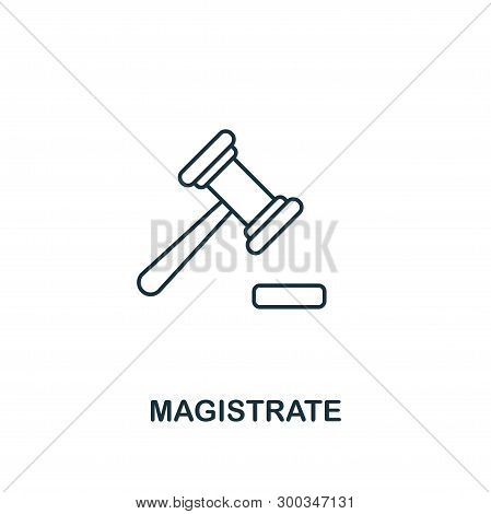 Magistrate Icon. Outline Style Thin Design From Business Icons Collection. Pixel Perfect Simple Pict