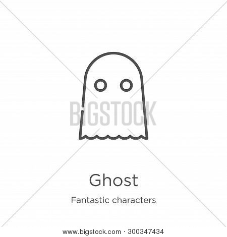 Ghost Icon Isolated On White Background From Fantastic Characters Collection. Ghost Icon Trendy And
