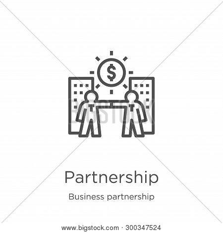 Partnership Icon Isolated On White Background From Business Partnership Collection. Partnership Icon