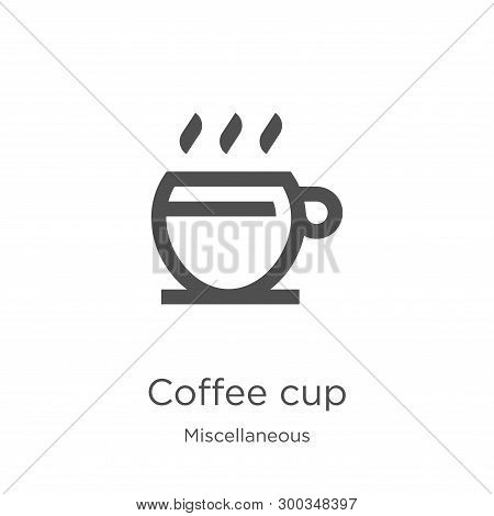 coffee cup icon isolated on white background from miscellaneous collection. coffee cup icon trendy and modern coffee cup symbol for logo, web, app, UI. coffee cup icon simple sign. coffee cup icon flat vector illustration for graphic and web design. poster