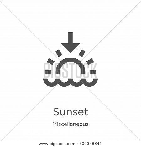 Sunset Icon Isolated On White Background From Miscellaneous Collection. Sunset Icon Trendy And Moder