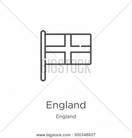 England Icon Isolated On White Background From England Collection. England Icon Trendy And Modern En