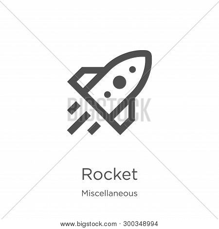 Rocket Icon Isolated On White Background From Miscellaneous Collection. Rocket Icon Trendy And Moder