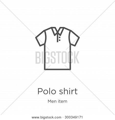 Polo Shirt Icon Isolated On White Background From Men Item Collection. Polo Shirt Icon Trendy And Mo