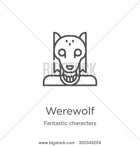 Werewolf Icon Isolated On White Background From Fantastic Characters Collection. Werewolf Icon Trend
