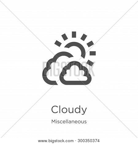 Cloudy Icon Isolated On White Background From Miscellaneous Collection. Cloudy Icon Trendy And Moder