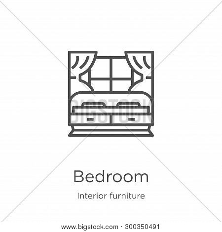 Bedroom Icon Isolated On White Background From Interior Furniture Collection. Bedroom Icon Trendy An