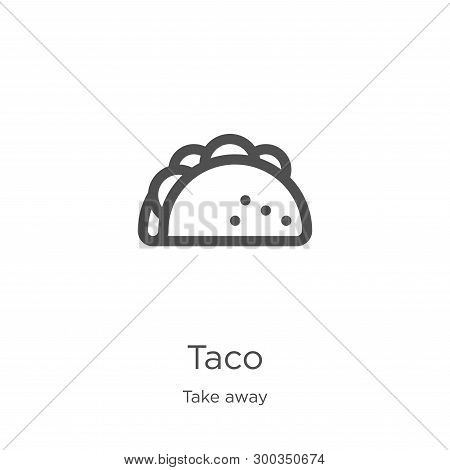 Taco Icon Isolated On White Background From Take Away Collection. Taco Icon Trendy And Modern Taco S