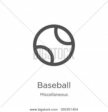 baseball icon isolated on white background from miscellaneous collection. baseball icon trendy and modern baseball symbol for logo, web, app, UI. baseball icon simple sign. baseball icon flat vector illustration for graphic and web design. poster