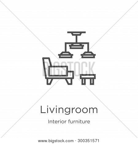 Livingroom Icon Isolated On White Background From Interior Furniture Collection. Livingroom Icon Tre