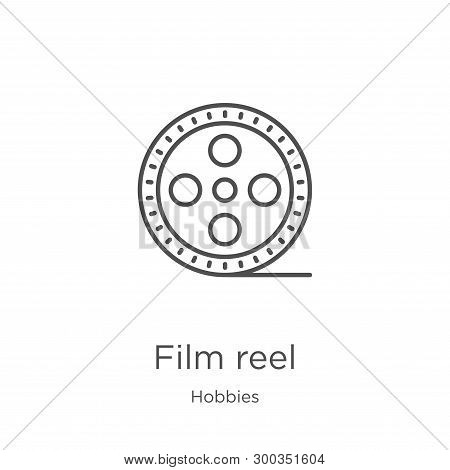 Film Reel Icon Isolated On White Background From Hobbies Collection. Film Reel Icon Trendy And Moder