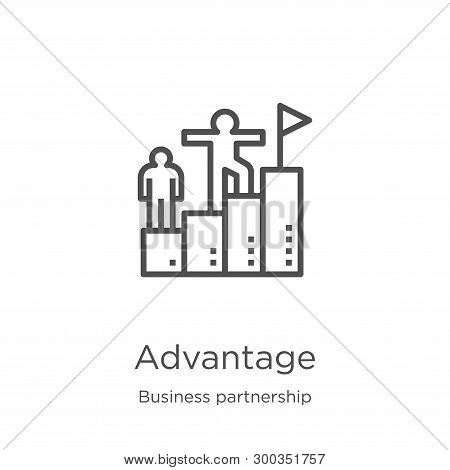 Advantage Icon Isolated On White Background From Business Partnership Collection. Advantage Icon Tre
