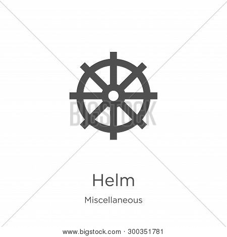 Helm Icon Isolated On White Background From Miscellaneous Collection. Helm Icon Trendy And Modern He