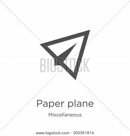 Paper Plane Icon Isolated On White Background From Miscellaneous Collection. Paper Plane Icon Trendy
